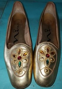 Nina Gold Ballet Flats